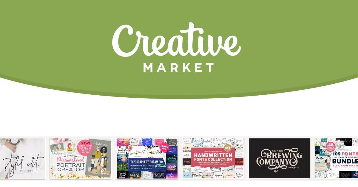 《Creative Market》精選設計素材「每週6個」限時免費下載