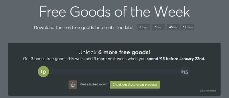 Creative Market 每週限定免費資源
