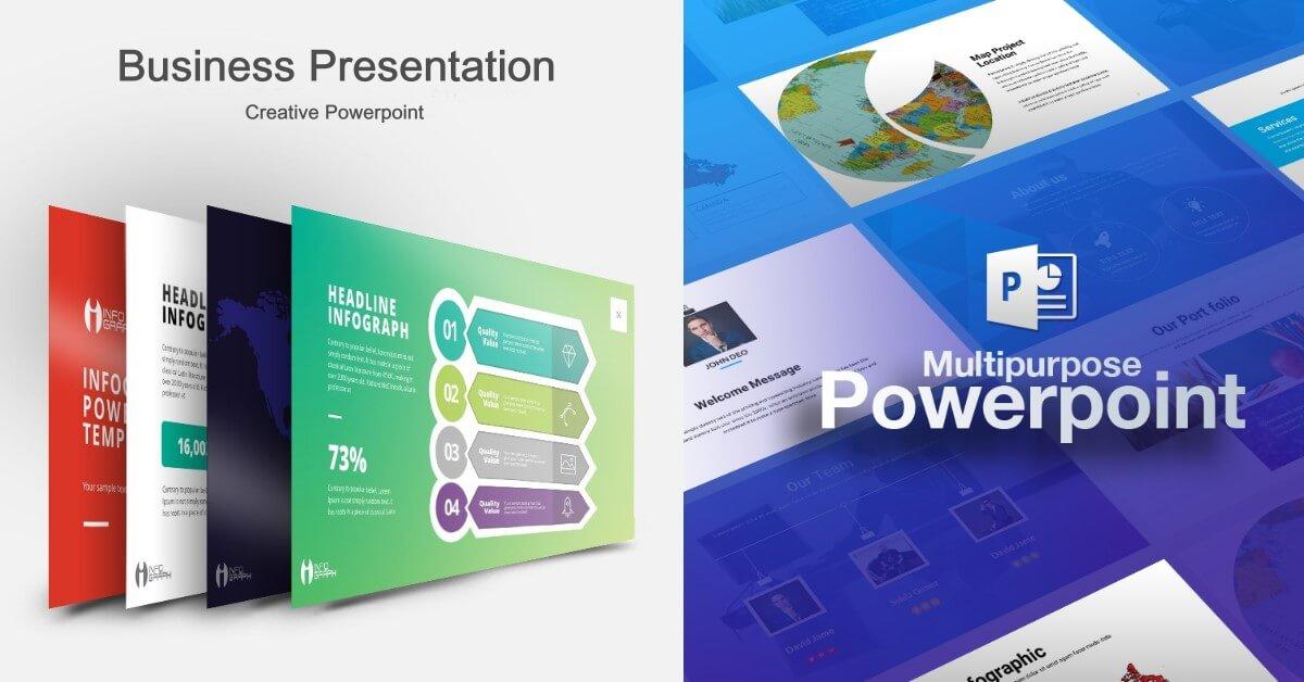 《Freepiker》雙主打「多用途 / 商務」專業PowerPoint簡報