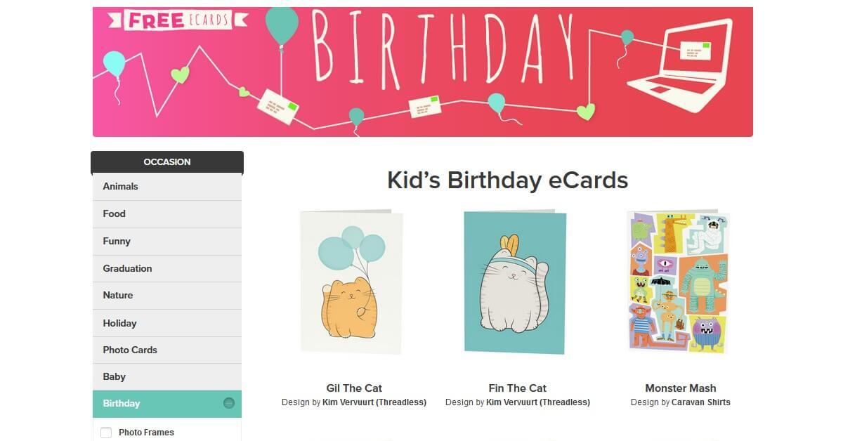 OpenMe 免費電子賀卡範本、模板