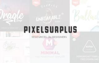 《PIXELSURPLUS》高品質PPT、FONT免費資源網站