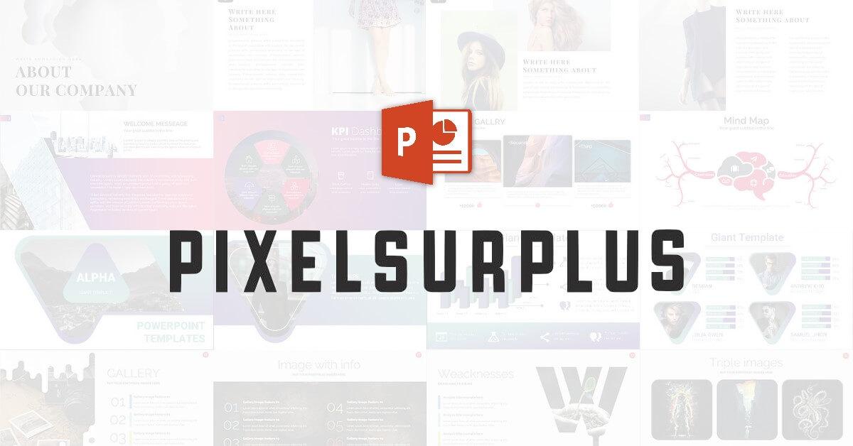 《PIXELSURPLUS》六款精選PPT簡報範本免費下載