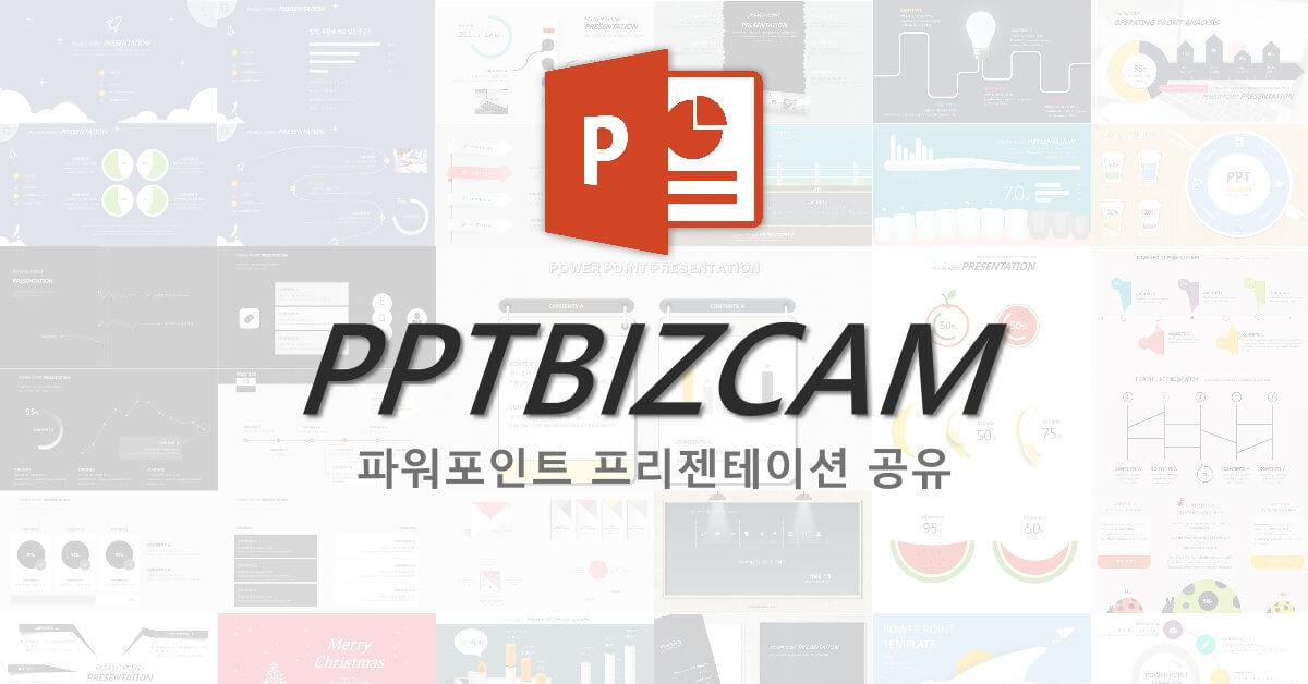 《PPTBIZCAM》跳脫框架的「韓風」簡報設計範本下載