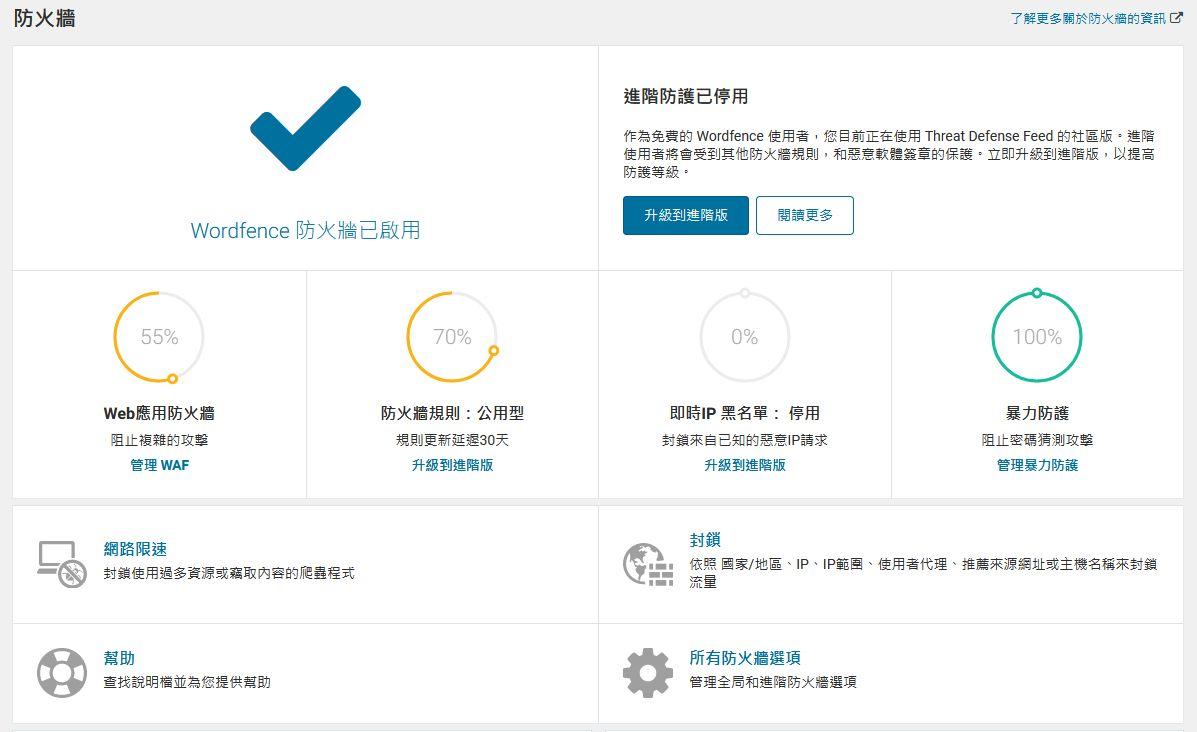 Wordfence Security - WordPress 網站防火牆安全設定