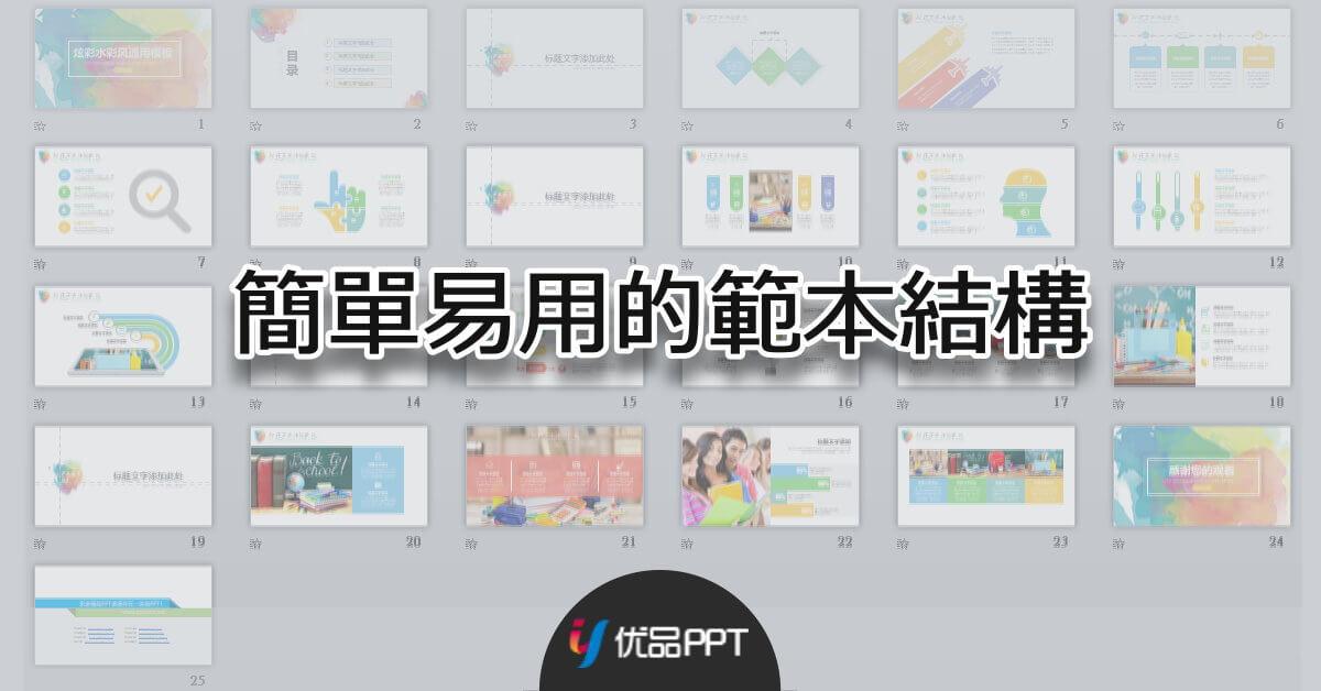 優品PPT - 簡單易用的範本架構